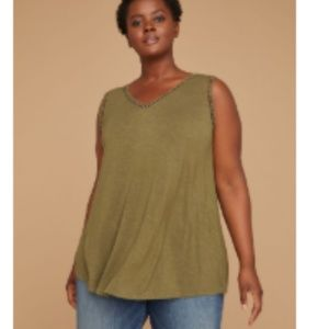 Lane Bryant Crochet Strappy Back Tank 22/24